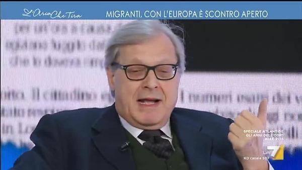 """Vittorio Sgarbi: """"BE është një monstër; ndërtuar apostafat kështu!""""."""